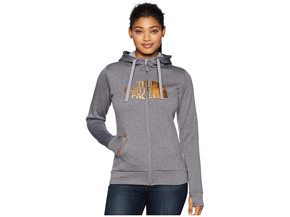 The North Face Fave 1/2 Dome Full Zip 2.0 (TNF Medium Grey Heather/Metallic Copper) Women