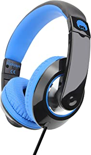 Rockpapa Comfort+ Over Ear Headphones Earphones with Microphone & Volume Control for Kids Childs Adults, Mobile Laptops Ta...