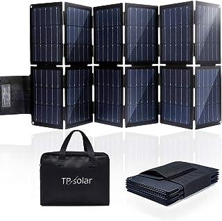 TP-solar 100W Foldable Solar Panel Charger Kit for Portable Generator Power Station Smartphones Laptop Car Boat RV Trailer...