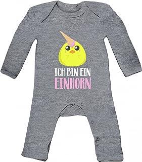 süßes Ostergeschenk Ostern Easter Baby Strampler Langarm Schlafanzug Jungen Mädchen Küken - Ich bin ein Einhorn