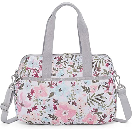 LeSportsac Adoration Harper Convertible Crossbody & Top Handle Tote Handbag/Carry-on, Style 3356/Color 4311/Color F570, Delicate Multi-Color Modern Watercolor Floral (carry-on bag)