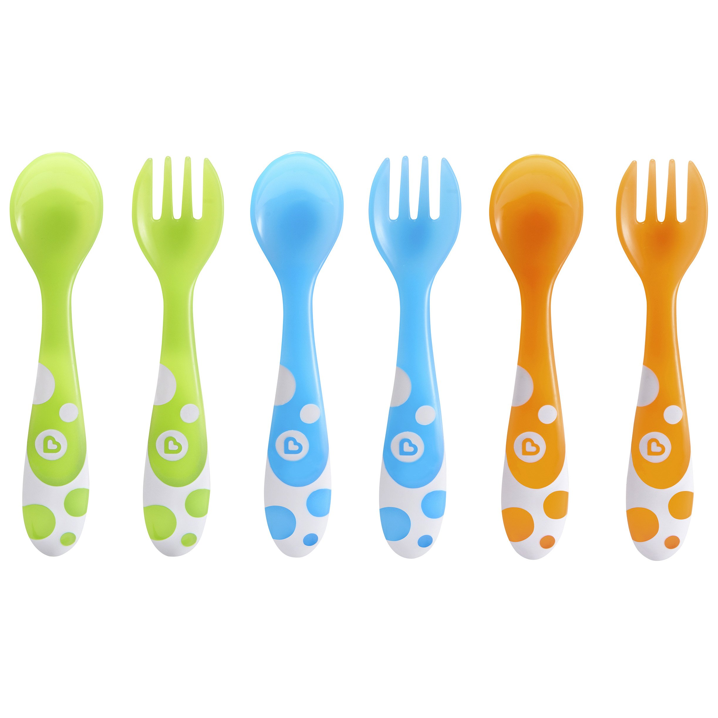 Munchkin 6 Multi Coloured Forks /& Spoons