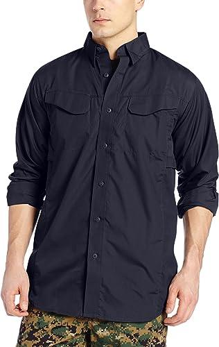 Tru-Spec Hommes's lumièreweight 24-7 manche longue Field Shirt, Navy, X-grand Long