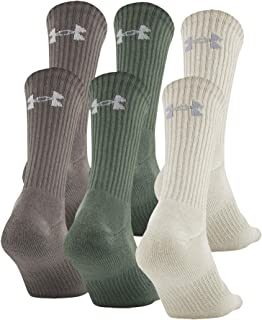 unisex-adult Charged Cotton 2.0 Crew Socks, 6-pairs