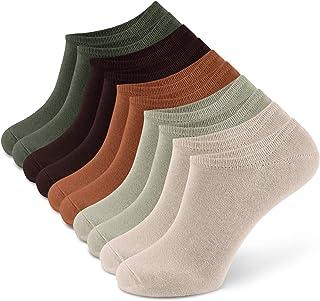 10 pares Calcetines Invisibles Algodón Con Silicona Antideslizante Calcetines Cortos Para Hombre y Mujer