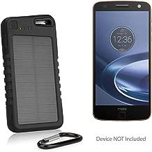 Motorola Moto Z Force Droid Battery, BoxWave [Solar Rejuva PowerPack (6000mAh)] Solar Powered Backup Power Bank for Motorola Moto Z Force Droid - Jet Black