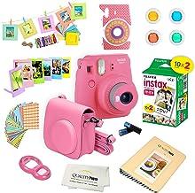 Fujifilm Instax Mini 9 Instant Camera w/Fujifilm Instax Mini 9 Instant Films (20 Pack) + A14 Pc Deluxe Bundle for Fujifilm...