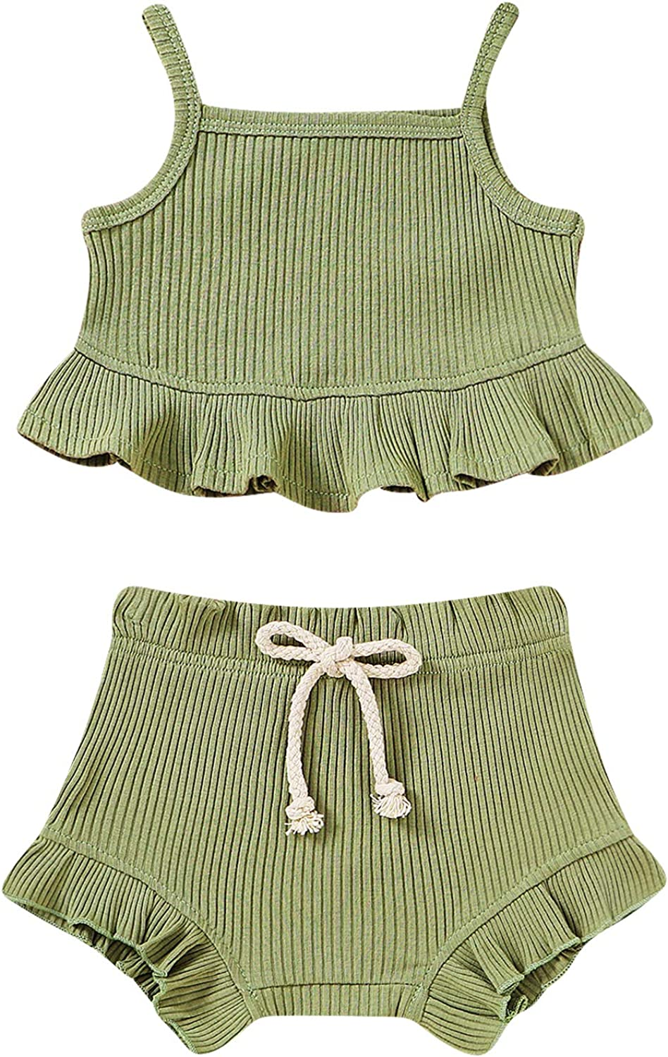 Toddler Newborn Baby Girl Summer Halter Ruffle Short Clothes Cheap mail order specialty store Max 76% OFF Set