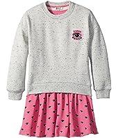 Kenzo Kids - Sweat and Eyes Pink Skirt Dress (Toddler/Little Kids)