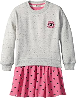 Kenzo Kids - Sweat and Eyes Pink Skirt Dress (Toddler/Little Kids)