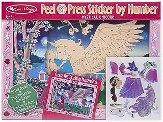 Melissa & Doug Peel and Press Sticker by Number Kit: Mystical Unicorn - 100+ Stickers, Jumbo Frame