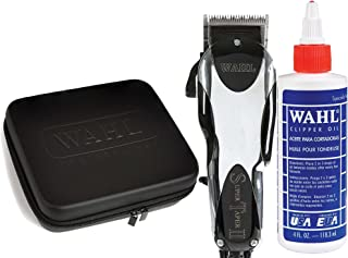 Wahl Professional Super Taper II #8470-500 with Travel Storage Case #90728 and 4oz Clipper Oil #03310 Great for Barbers and Stylists