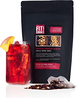 The Fit Cook Premium Wellness Tropical Hibiscus Iced Tea - Refreshing & Health-Conscious Iced Tea Infused with Hibiscus, O...