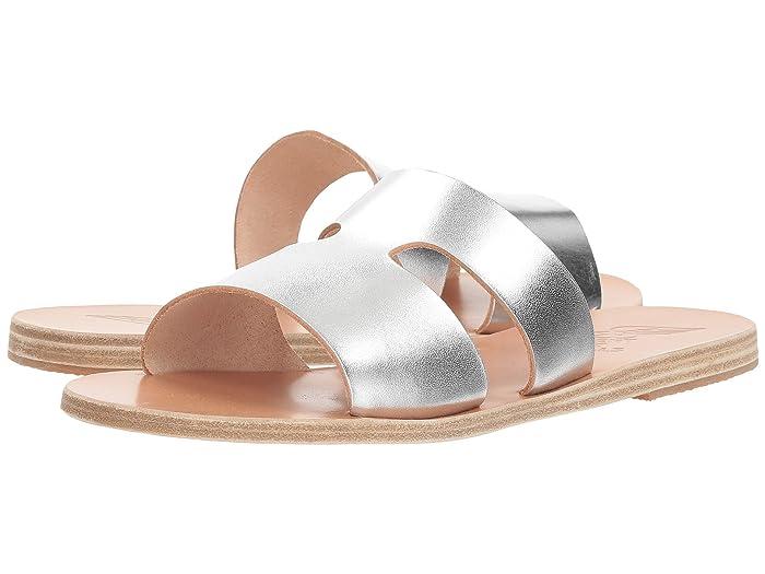 Ancient Greek Sandals  Apteros (Silver Vachetta) Womens Sandals