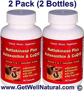 Nattokinase Plus Astaxanthin & CoQ10 (60 Capsules) - 2 Pack