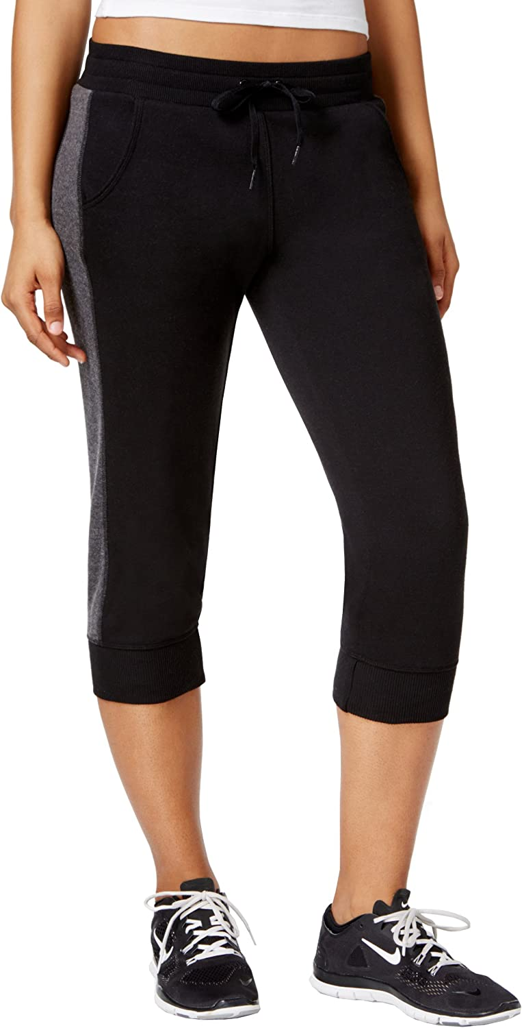Ideology Women's Cropped Jogger Pants, black, Small