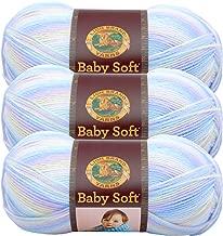 (3 Pack) Lion Brand Yarn 920-218 Babysoft Yarn, Pastel Print