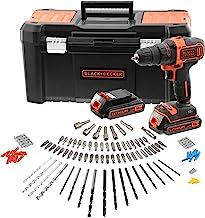 Black & Decker BCK186D2KA-QW klopboormachine, draadloos, 18 V-2 x 2 Ah – 25 mm in hout, 10 mm in metaal, 2 snelheden, 2 ac...