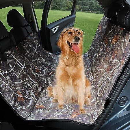 Lavable A M/áQuina WAFOR Funda Asiento Coche Perro Cubre Asientos Coche Perro Hamaca para Perros con Cinturones De Seguridad para Camiones Y SUV Resistente E Impermeable