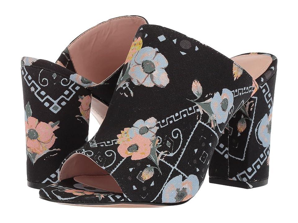 Avec Les Filles Margaux (Black Poppy Bandana Print Canvas) High Heels