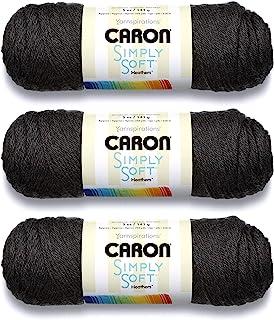 Bulk Buy: Caron Simply Soft Heather Yarn (3-Pack) Charcoal H9700H-9508