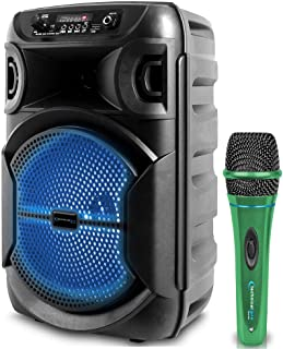 $59 » Sponsored Ad - Technical Pro 8 Inch Portable 500 Watts Bluetooth Speaker w/Woofer & Tweeter and Portable Microphone w/Digi...