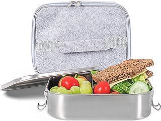 Gadgy Lunch Box en Acier Inoxydable | Grande Boîte à Lunch Écologique | Convient pour la Préparation des Repas | Comprend ...