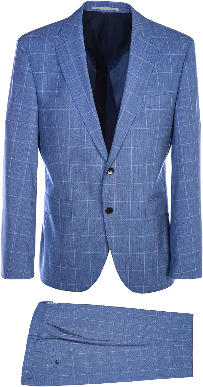 BOSS Jeckson/Lennon2 Suit in Sky Blue Check