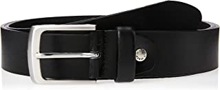 Sponsored Ad – OCTAVE Men's Plain Casual Genuine Leather Belt, Black