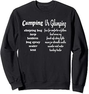 Camping vs Glamping Checklist Sweatshirt