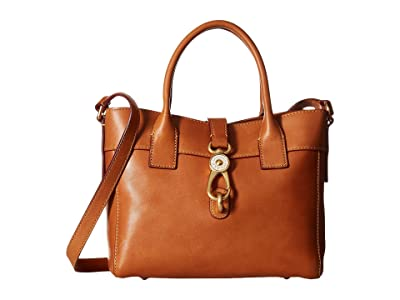 Dooney & Bourke Florentine Classic Amelie Tote (Natural/Self Trim) Tote Handbags