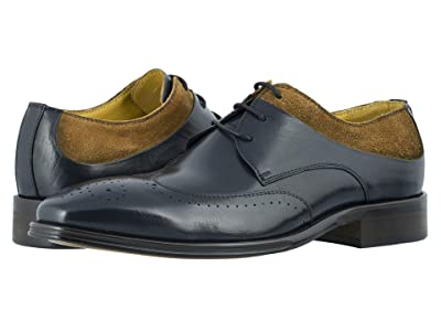 Stacy Adams Hewlett Wing Tip Oxford (Navy/Tan) Men