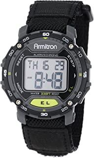 Unisex 40/8291BLK Grey Accented Digital Chronograph Black Nylon Strap Watch