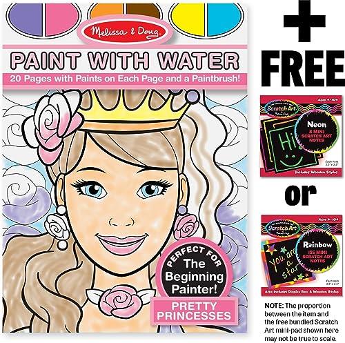 barato Pretty Princesses  Color with Water Activity Book + FREE FREE FREE Melissa & Doug Scratch Art Mini-Pad Bundle [94344]  costo real