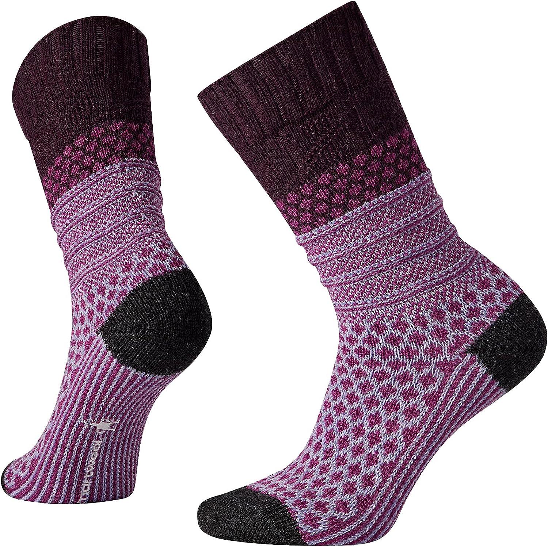 Smartwool Women's Popcorn Cable Crew Socks - Medium Cushioned Merino Wool Socks