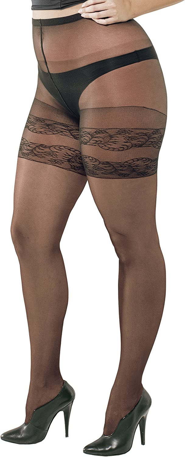 Trasparenze Women's 1 Pair Curvy Margherita Sheer Mock Hold Up Tights