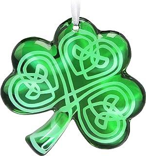 Best Hallmark Keepsake Christmas 2019 Year Dated Luck O' The Irish Shamrock Glass Ornament Reviews