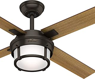 Hunter Fan 52 inch Contemporary Premier Bronze Indoor Ceiling Fan with Light Kit and Remote Control (Renewed)