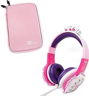 DURAGADGET Children's 'Princess' Tiara Headphones in Pink & Purple with Lace Detail for Archos 70 Copper, Archos 70b Xenon, Archos 70c Cobalt & Archos 70c Titanium + Bonus Pink EVA Hard Case!