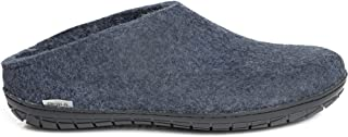 Glerups Unisex BR-10-02 - Felt Slippers with Rubber Sole 48 M Denim-Black