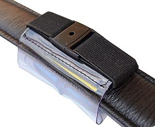 josi.li - Custodia per localizzatore GPS, 72 x 29 x 16 mm, in nappa, PVC, anche ricamato, a scelta, scomparto indirizzo, e...