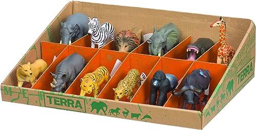 Battat Terra An6054gtz Animaux Sauvages Figurines (12pièces)