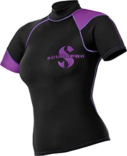 ScubaPro Womens ECOnomy Black Short Sleeve Rash Guard-XSM