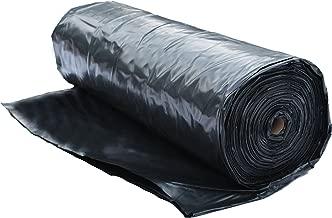 6 Mil Polyethylene Sheeting Roll (20' x 100') Black Plastic Sheeting, Plastic Tarp, Plastic Mulch, Weed Barrier, Concrete Moisture, Vapor Barrier, Construction Film, Lumber Tarp, Ground Cover