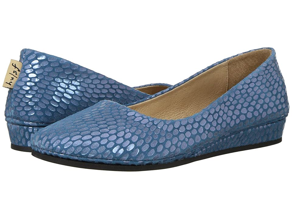 French Sole Zeppa Flat (Blue Julep Print) Women