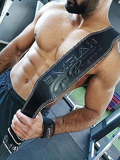 EMRAH Cinturón de Levantamiento de Pesas Pure Genuine Leather para Hombres y Mujeres - Ideal para Levantamiento de Pesas, Peso Muerto, Crossfit - Apoyo para la Espalda