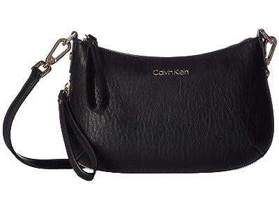 Calvin Klein Elaine Bubble Lamb Novelty Small Crossbody (Black/Gold) Cross Body Handbags