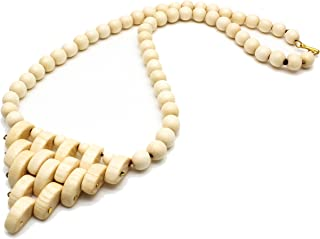 Karelian Heritage Gypsy Tribal Jewelry Natural Long Wooden Birch Necklace WN02