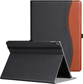 ZtotopCase for iPad Pro 12.9 Inch 2017/2015 (Old Model,1st & 2nd Gen), Premium PU Leather Folding Stand Folio Cover with Auto Wake/Sleep, Document Card Slots and Multiple Viewing Angles,BlackBrown