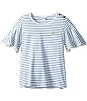 Chloe Kids - Ruffled Sleeve Striped T-Shirt (Big Kids)